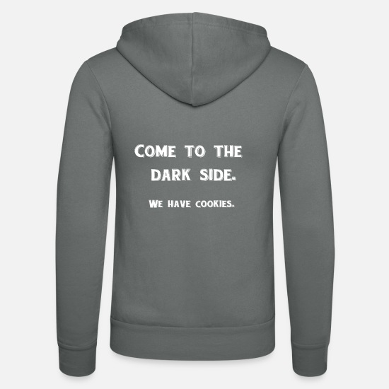 Dark Hoodies & Sweatshirts - I love cookies!!! - Unisex Zip Hoodie grey