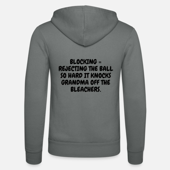 Play Hoodies & Sweatshirts - Volleyball - Volley Ball - Volley-Ball - Sport - Unisex Zip Hoodie grey