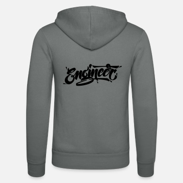 Typography Engineer (Typography Logo) - Unisex zip hoodie