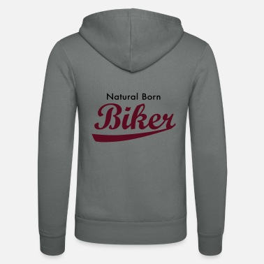 Quad Natural Born Biker - Unisex Zip Hoodie