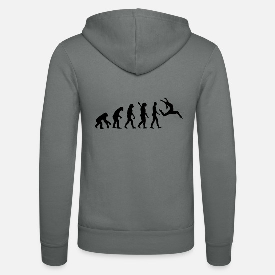 Dancing Hoodies & Sweatshirts - Jazz - Unisex Zip Hoodie grey