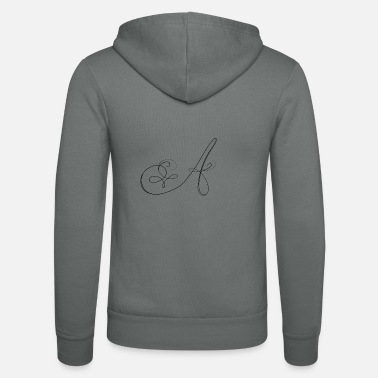 Lettering A, letter, letter A - Unisex Zip Hoodie