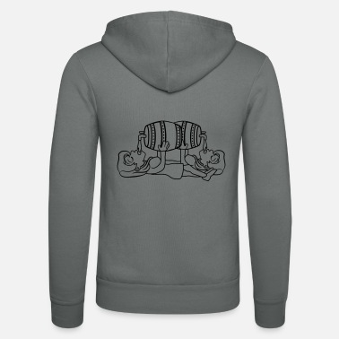 2 girlfriends celebrate celebration barrel october - Unisex Zip Hoodie