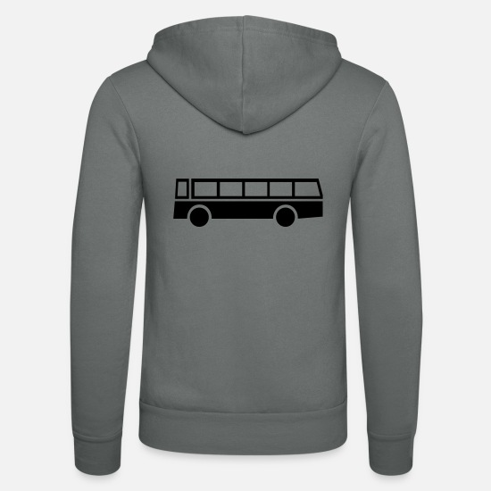 Bus Hoodies & Sweatshirts - bus,vehicle,mode of transport - Unisex Zip Hoodie grey