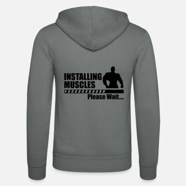 Funny Funny gym - Installing Muscle - Unisex Zip Hoodie