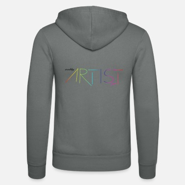 Wealthy wealthy artist - Rainbow / Colorful / Gift - Unisex Hooded Jacket by Bella + Canvas