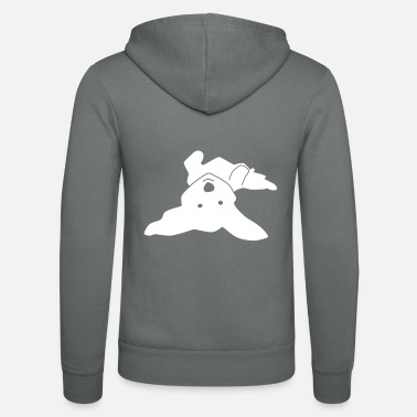 Havanese on his back - Unisex Zip Hoodie