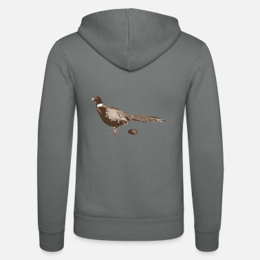 Pheasant Pheasant with a T-shirt - Unisex Hooded Jacket by Bella + Canvas