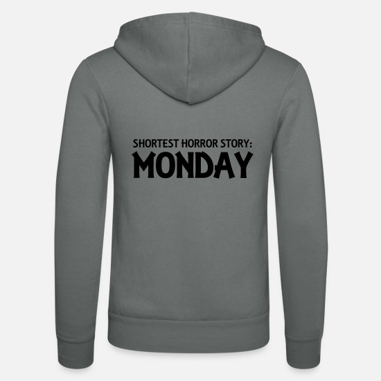 Effrayant Sweat-shirts - Shortest Horror Story: Monday - Veste à capuche unisexe gris