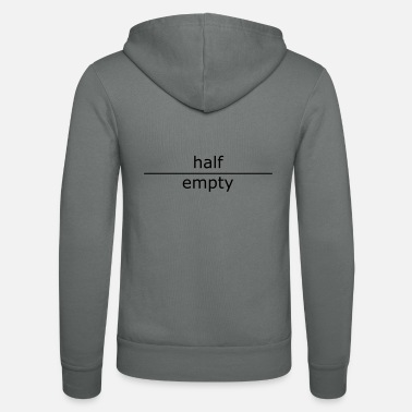 Luck half empty (for mugs and bags) - Unisex Zip Hoodie