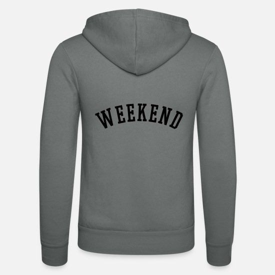 Fête Sweat-shirts - WEEKEND - Veste à capuche unisexe gris