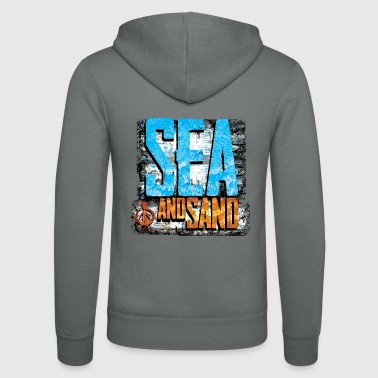 sea and sand - Unisex Hooded Jacket by Bella + Canvas