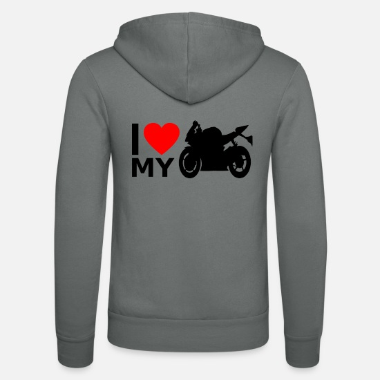 Fan Sweat-shirts - Moto Superbike - Veste à capuche unisexe gris