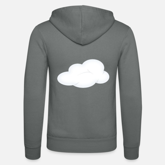 Rain Hoodies & Sweatshirts - rainbow sun clouds weather rainbow sun cloud13 - Unisex Zip Hoodie grey