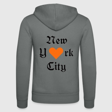 New York City Ja New York City, York, New York City, kaupunki, rakastan sinua - Unisex Bella + Canvas -hupputakki