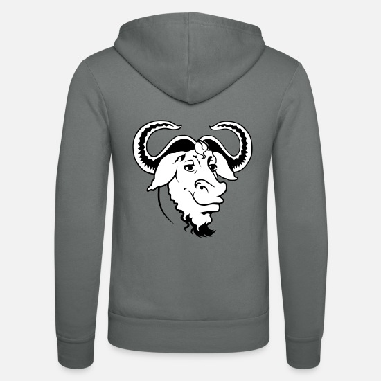 Beef Hoodies & Sweatshirts - Ox Comic - Unisex Zip Hoodie grey
