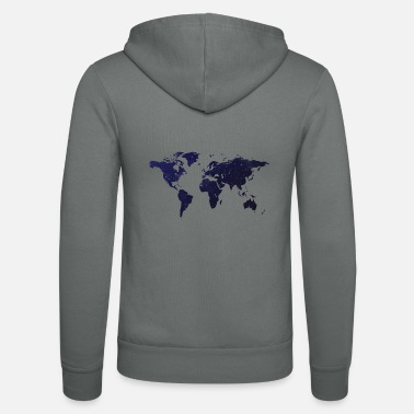 At Night World at night - Unisex Zip Hoodie