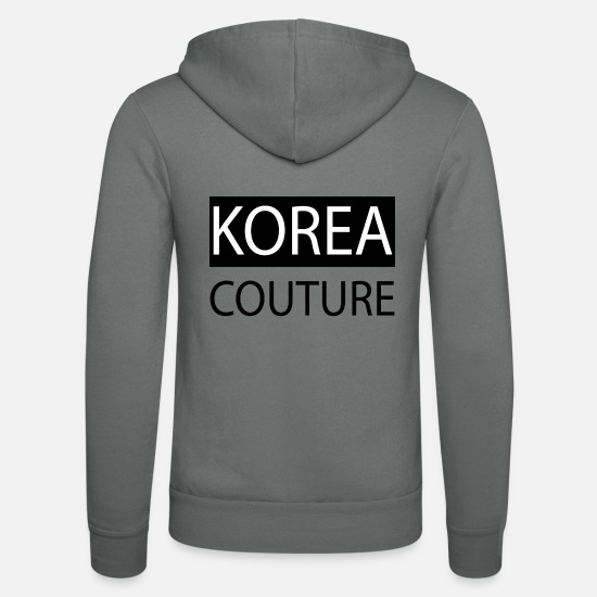 Seoul Hoodies & Sweatshirts - Korea couture - Unisex Zip Hoodie grey