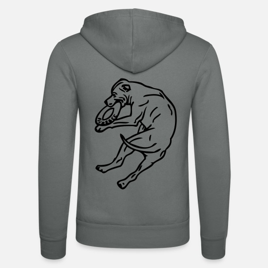 Stafford Hoodies & Sweatshirts - Stafford © www.dog-power.nl - Unisex Zip Hoodie grey