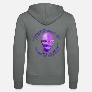 The Many Faces of Dementia - Unisex Zip Hoodie