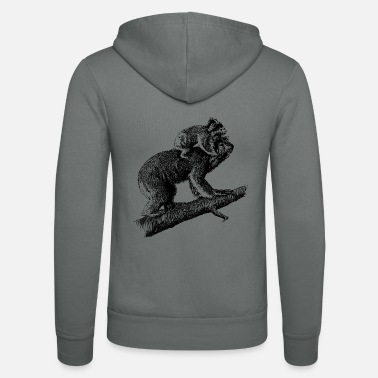 Offspring Koala with offspring - Unisex Zip Hoodie