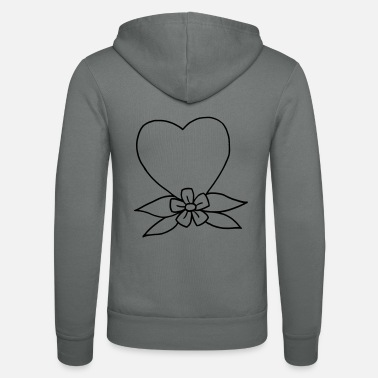 Traditional Heart traditional - Unisex Zip Hoodie