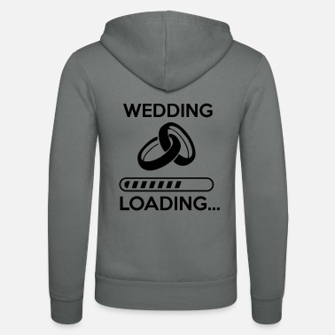 Stag wedding loading - Stag do - hen party - Unisex Zip Hoodie