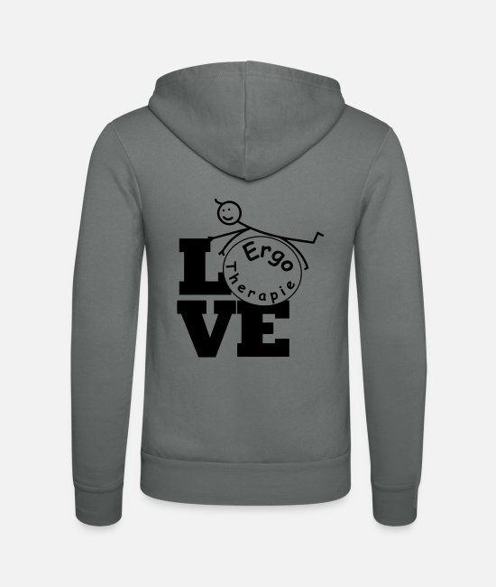 Physiotherapist Hoodies & Sweatshirts - Love Occupational Therapy / Occupational Therapist - Unisex Zip Hoodie grey