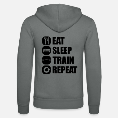 Cross Fit eat_sleep_train_repeat_4_1f - Unisex hupputakki