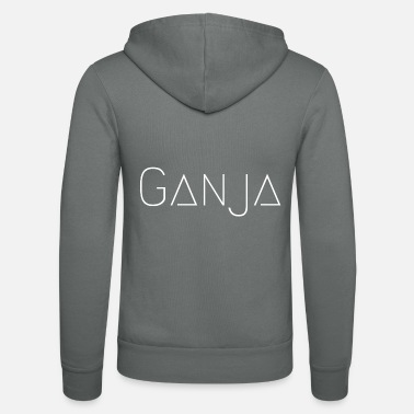 Ganja Ganja White - Unisex Hooded Jacket by Bella + Canvas