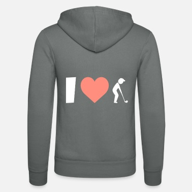 Golf Shoes Golf I love playing golf - Unisex Zip Hoodie