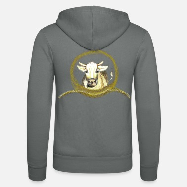 Cow Friendly cow for cow fans - Unisex Hooded Jacket by Bella + Canvas