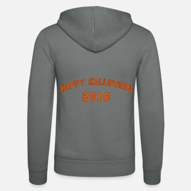 Glad Halloween 2018 bokstäver orange - Zip hoodie unisex
