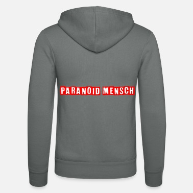Paranoid PARANOID HUMAN / shirt - Unisex Hooded Jacket by Bella + Canvas