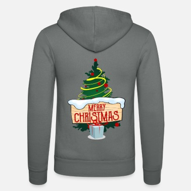 Christmas tree - Unisex Hooded Jacket by Bella + Canvas