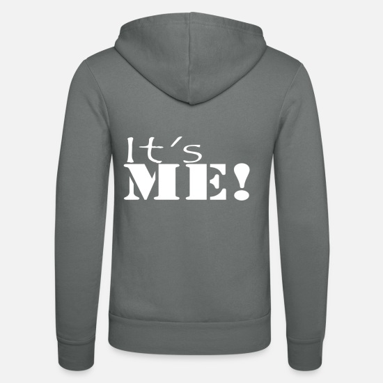 Gift Idea Hoodies & Sweatshirts - It's me! Also a cool saying for Mario fans. - Unisex Zip Hoodie grey