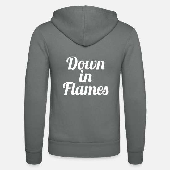 Fire Fighter Hoodies & Sweatshirts - Down in flames - Unisex Zip Hoodie grey