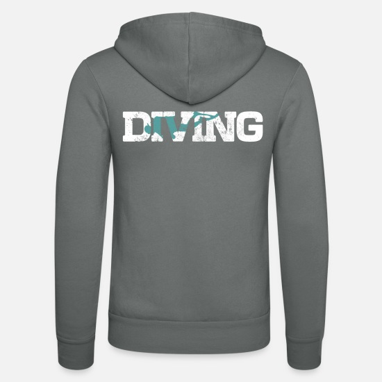 Reef Hoodies & Sweatshirts - diving - Unisex Zip Hoodie grey
