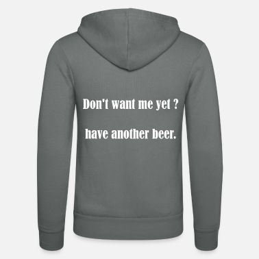 Festival Beer Quote Engaging English Party Festive Gift - Unisex Zip Hoodie