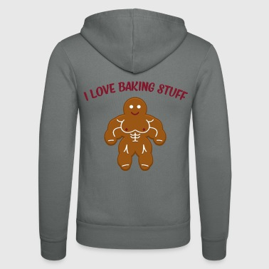 Funny Christmas Bakery Muscle Gingerbread Man Gift - Bluza z kapturem Bella + Canvas typu unisex