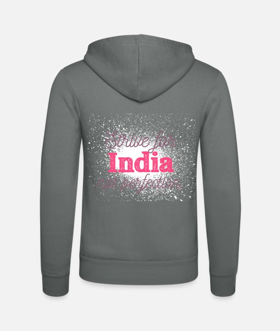 Travel Hoodies & Sweatshirts - India - Unisex Zip Hoodie grey