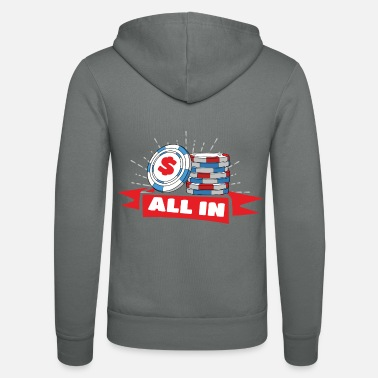 All In Poker All In - Unisex hættejakke