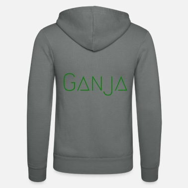 Ganja Ganja Green - Unisex Hooded Jacket by Bella + Canvas