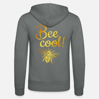 Bee Cool (Vintage Gold Yellow) Beekeeping bee beekeeper - Unisex Zip Hoodie