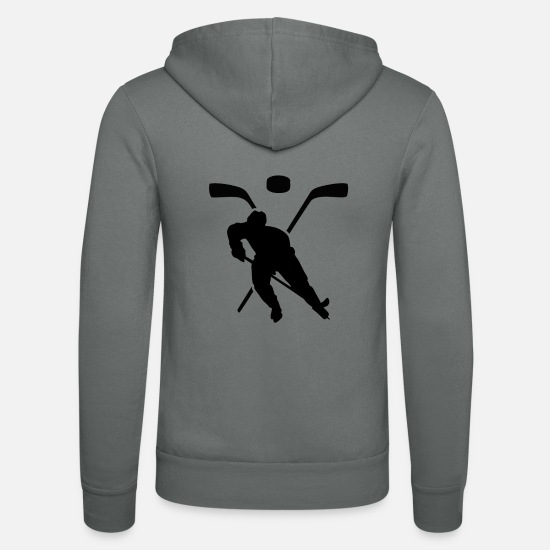 Hockey Sweat-shirts - Joueur de hockey - Veste à capuche unisexe gris