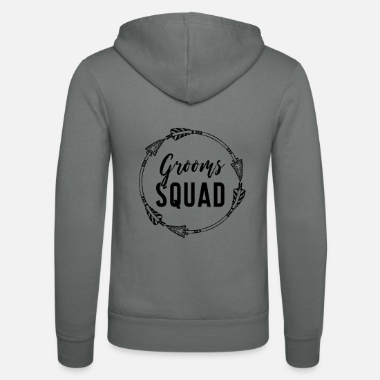 Bachelor Party Hoodies & Sweatshirts - Bachelor party, troop of the groom - Unisex Zip Hoodie grey