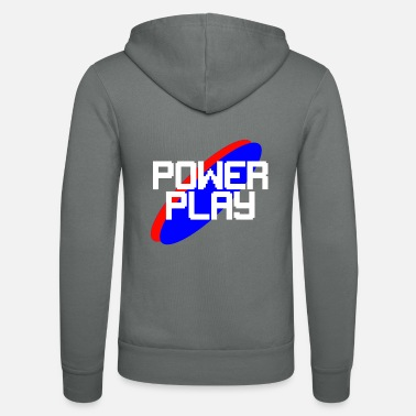 Powerplay-White - Unisex Kapuzenjacke