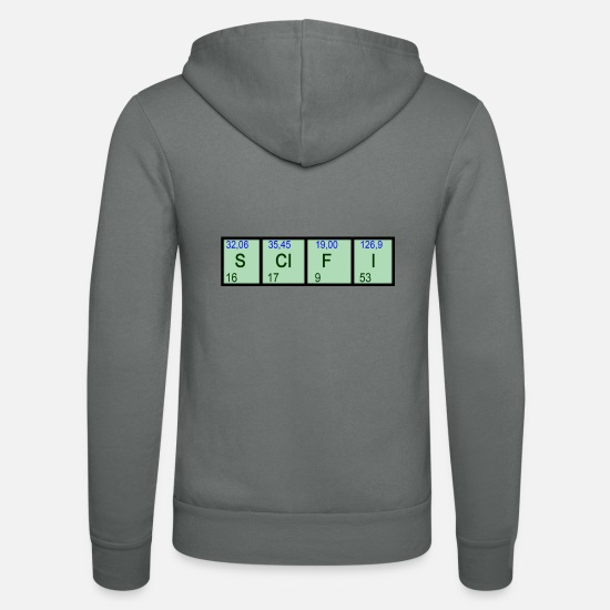 Scifi Hoodies & Sweatshirts - SCIFI Elements - Unisex Zip Hoodie grey