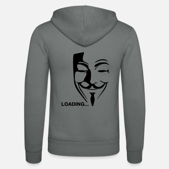 Vendetta Sweat-shirts - Loading Anonymous - Veste à capuche unisexe gris