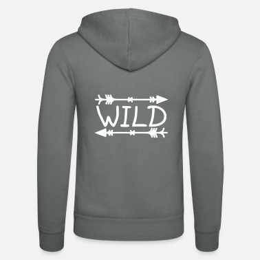 Wild Horse Wild - Unisex Hooded Jacket by Bella + Canvas